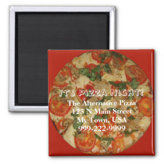 It's Pizza Night - Customizable Take Out Food Square Magnet