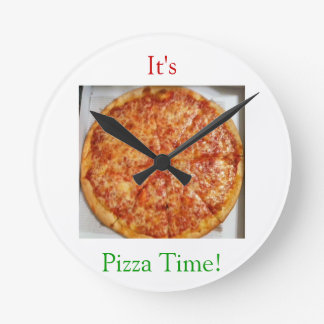 It's Pizza Time! Round Clock