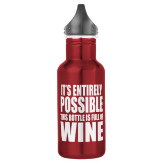 It's Possible This is Wine 532 Ml Water Bottle