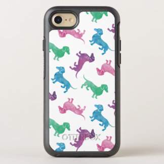 It's Raining Dachshund Cute Pastel Colored OtterBox Symmetry iPhone 8/7 Case