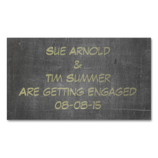 Its Real Chalk - Engagement Announcement Magnetic Business Cards