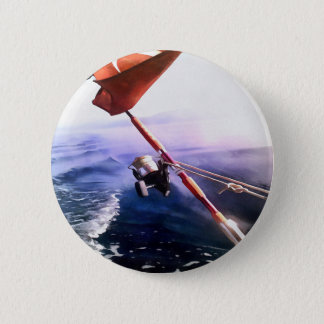 It's Reel - Gone Fishing 6 Cm Round Badge
