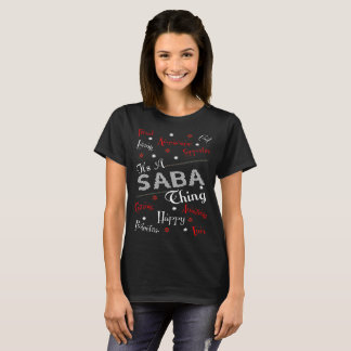 Its Saba Thing Christmas Ugly Sweater Tshirt