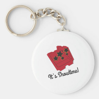 Its Showtime Basic Round Button Key Ring