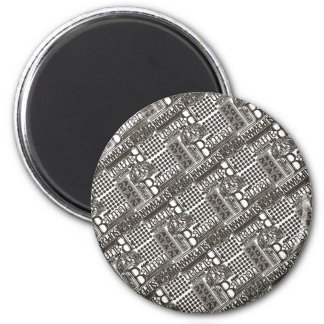 It's Showtime Pattern 6 Cm Round Magnet