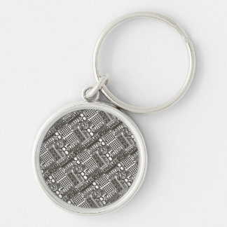 It's Showtime Pattern Silver-Colored Round Key Ring