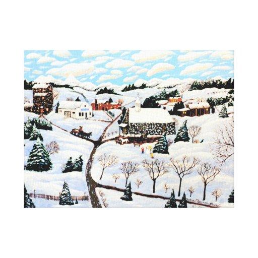 It's Snowing Canvas Prints