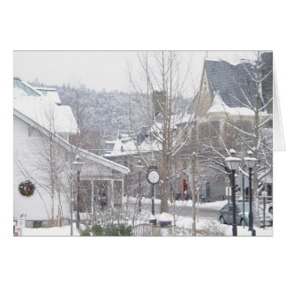 It's snowing in Milford Card