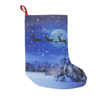 IT'S SNOWING! SMALL CHRISTMAS STOCKING