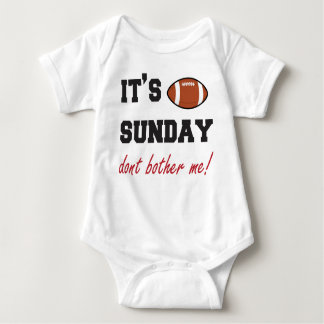 It's Sunday don't bother me! baby bodysuit