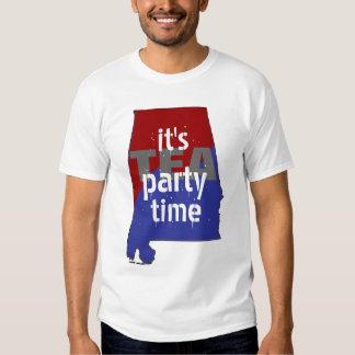 It's Tea Party Time Alabama Tshirts
