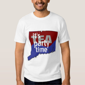 It's Tea Party Time Connecticut Tee Shirt