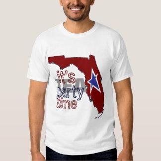 It's Tea Party Time Florida T-shirts