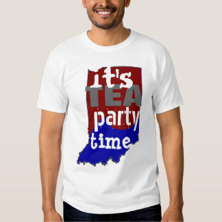 It's Tea Party Time Indiana Shirt