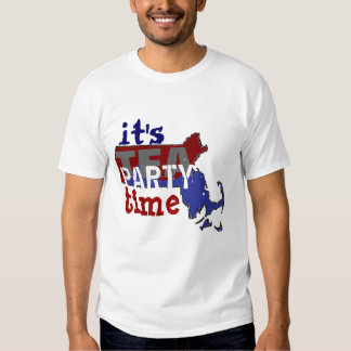It's Tea Party Time Massachusetts T Shirt