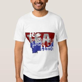 It's Tea Party Time Montana T Shirt