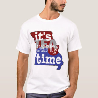 It's Tea Party Time Mssouri T-Shirt
