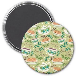 It's Tea Time 7.5 Cm Round Magnet