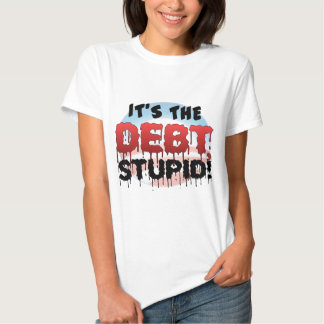 It's The Debt, Stupid! - Anti Obama T-shirts