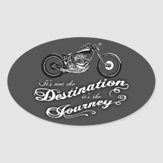 It's the Journey Oval Sticker