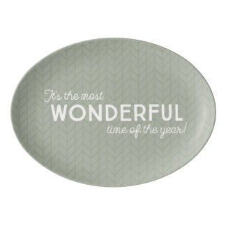 It's the most wonderful time - for food! porcelain serving platter