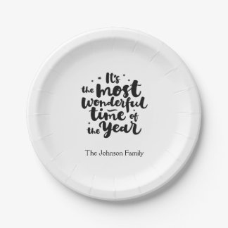 It's the Most Wonderful Time of the Year Paper Plate