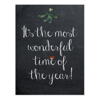It's the most wonderful time of the year postcard