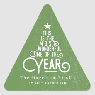 ITS THE MOST WONDERFUL TIME OF THE YEAR TRIANGLE STICKER