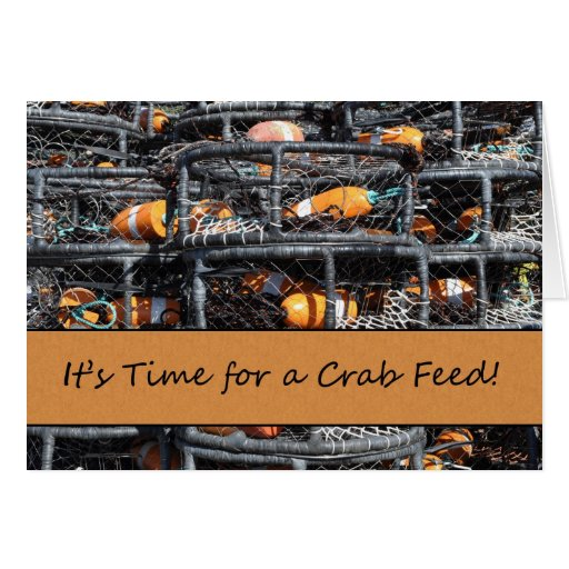 It's Time for a Crab Feed Invitation Greeting Card