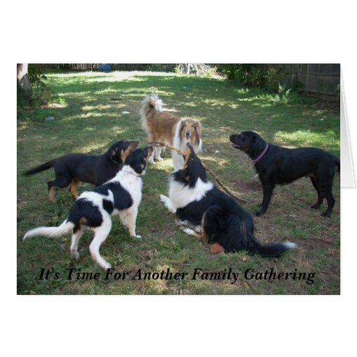 It's Time For Another Family Gathering Greeting Card