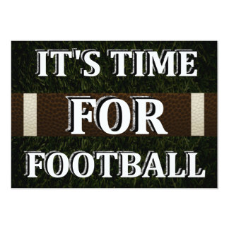 It's Time For Football Invitation