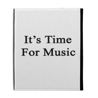 It's Time For Music iPad Folio Cover