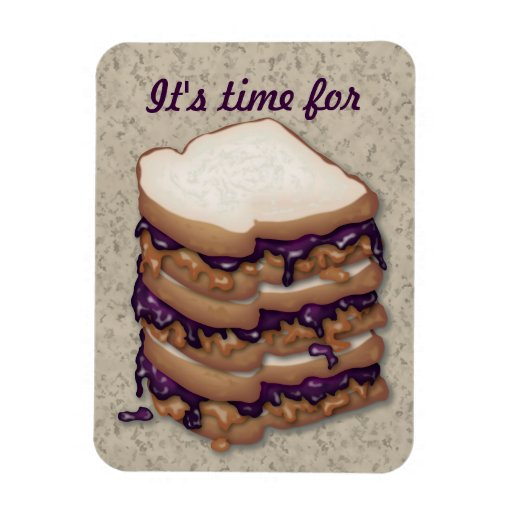 It's time for Peanut Butter and Jelly Sandwiches Magnets