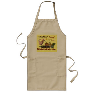 It's Time for Thanksgiving Long Apron