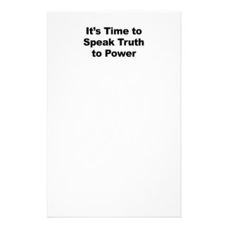It's Time to Speak Truth To Power Stationery