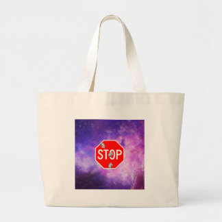 its time to stop filthy frank stop sign galaxy large tote bag
