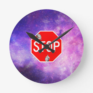 its time to stop filthy frank stop sign galaxy round clock