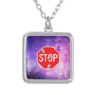 its time to stop filthy frank stop sign galaxy silver plated necklace