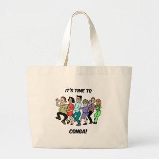 its time to to conga tote bag