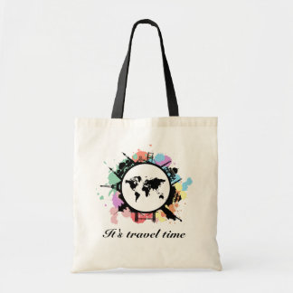 It's travel time budget tote bag