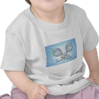 IT'S TWIN BOYS BABY RATTLE by SHARON SHARPE Tshirt