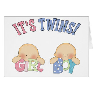 ITS TWINS (Boy Girl) Greeting Card