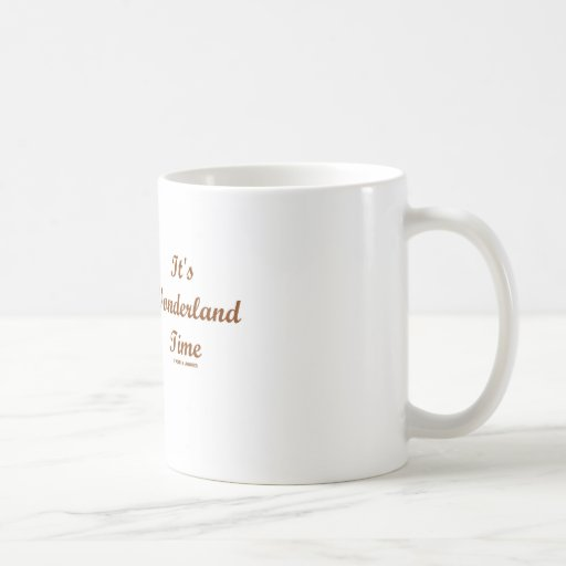 It's Wonderland Time White Rabbit With Trumpet Coffee Mug