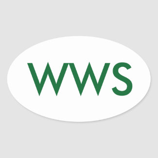 It's WWS, or (WA WA Segowea!) Oval Sticker