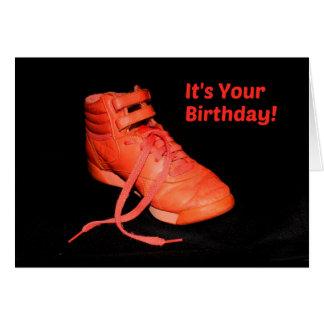 It's Your Birthday - Orange Shoe Glad? Card