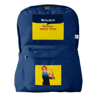 It's Your Custom Rosie Party Personalize This Backpack