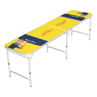 It's Your Custom Rosie Party Personalize This Pong Table