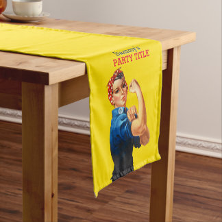 It's Your Custom Rosie Party Personalize This Short Table Runner