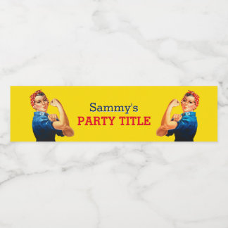 It's Your Custom Rosie Party Personalize This Water Bottle Label