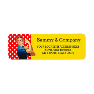 It's Your Party Personalized Rosie Style Return Address Label